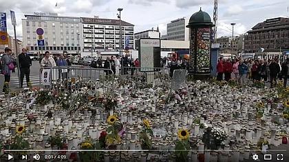 フラッシュモブ、フィンランドのトゥルクのテロ事件